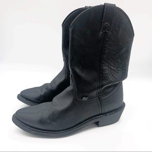 Black Cowboy Boots Leather